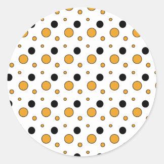 holloween-circles round sticker