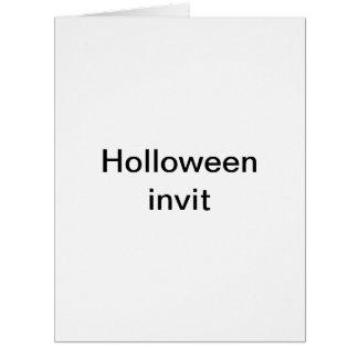 Holloween invit big greeting card
