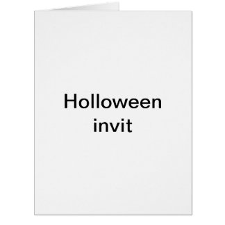 Holloween invit large greeting card