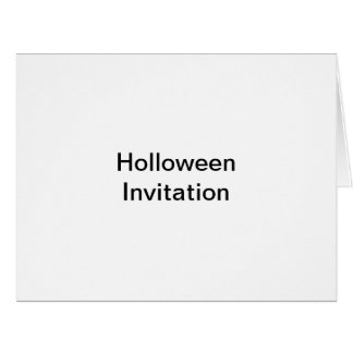 holloween invitation large greeting card