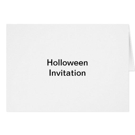 Holloween invitation card
