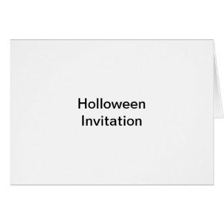 Holloween invitation note card
