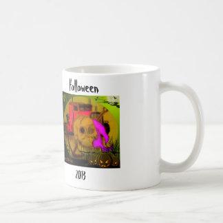 Holloween mug.. basic white mug