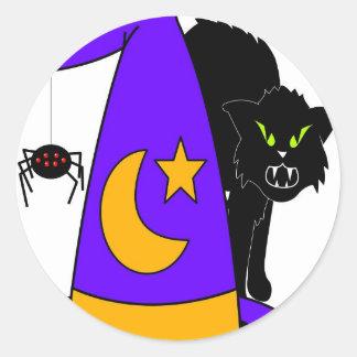 holloween round sticker