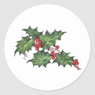 Holly and Berries | Christmas Holiday Stickers