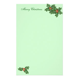 Holly and Berries, Christmas Writing Paper