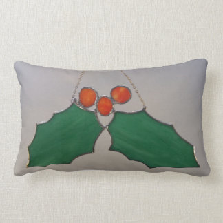 Holly and Berries Lumbar Cushion