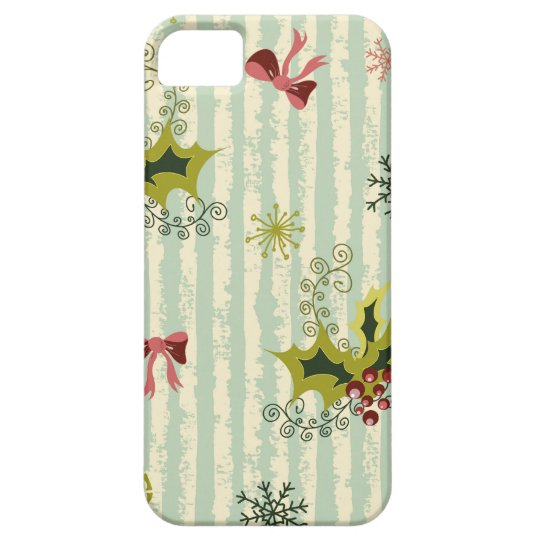 Holly and Bows Case For The iPhone 5