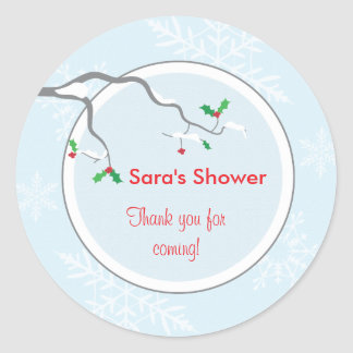 Holly and Branches Favor Sticker or Address Label