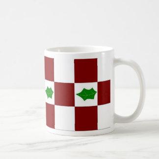 Holly and Checks Coffee Mug