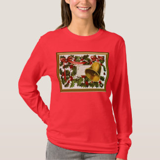 Holly and Christmas bells T-Shirt