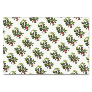 holly and ivy design Christmas Tissue Paper