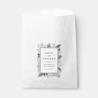 Holly and Pine Wedding Favour Bags