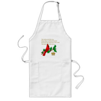 Holly and the Ivy Illustrated on Apparel & Gifts Long Apron