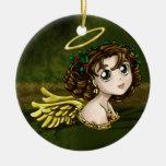 Holly Angel Christmas Tree Ornament