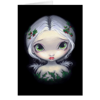 """Holly Angel"" Greeting Card"