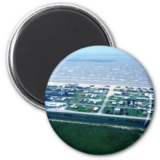 Holly Beach Louisiana 6 Cm Round Magnet