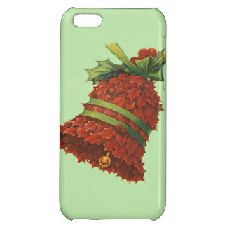 Holly Bell Poinsettia Green Ribbon Winterberry Case For iPhone 5C
