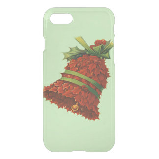 Holly Bell Poinsettia Green Ribbon Winterberry iPhone 7 Case