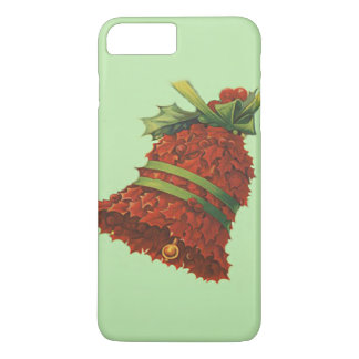 Holly Bell Poinsettia Green Ribbon Winterberry iPhone 7 Plus Case