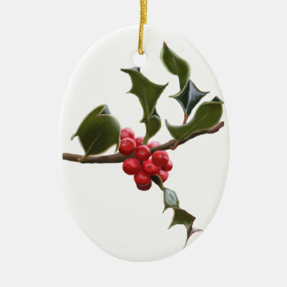 Holly Berries Christmas Ornament