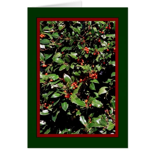 "'Holly & Berries' Holiday Card - ""Merry Christmas"""
