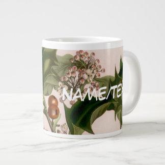 Holly berries 20 oz large ceramic coffee mug