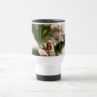 holly berries 15 oz stainless steel travel mug