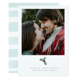 Holly Berry Christmas Photo Cards