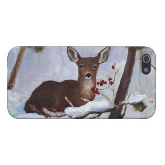 Holly Berry Deer IPhone 4 Case
