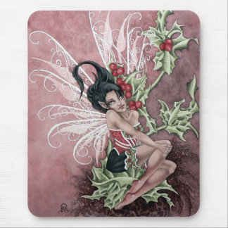 Holly Berry Faery Mouse Pad