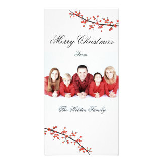 Holly Berry Merry Christmas Card