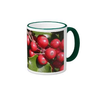 Holly Berry Ringer Mug