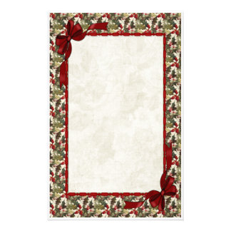 Holly Berry Stationery Design