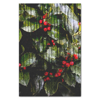 Holly Berry Vertical Tissue Paper