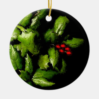 Holly Bunch Christmas ornament