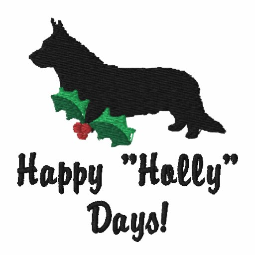 Holly Cardigan Welsh Corgi Embroidered Shirt