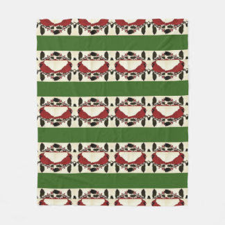 Holly Cardinal Fleece Blanket