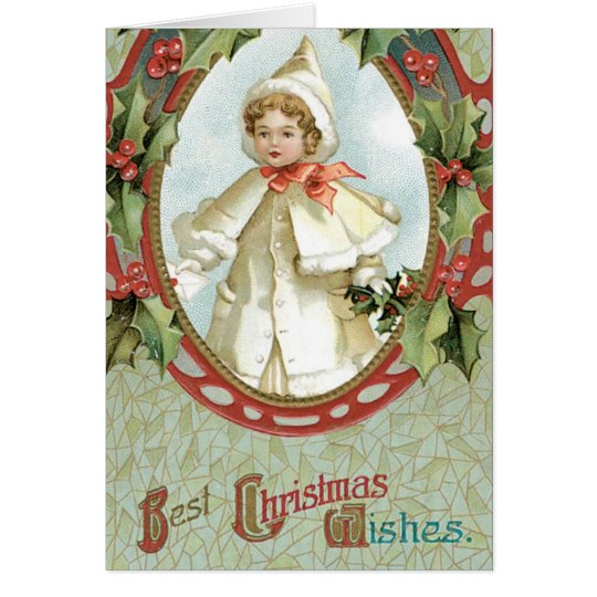 Holly Christmas Card Vintage