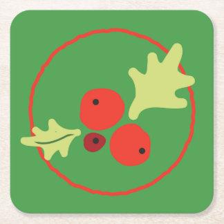 Holly Christmas Flora Coasters