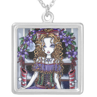 """Holly"" Christmas Party Fairy Necklace"