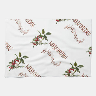 Holly Christmas Tea Towel