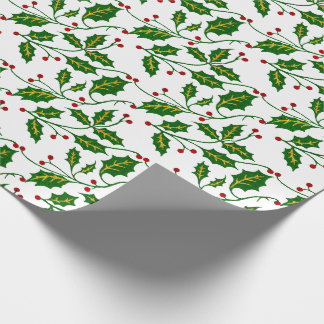 Holly Christmas Wrapping Paper