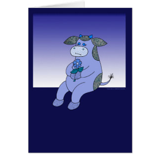 Holly Cow Blue Without You Greeting Card