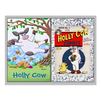Holly Cow Collectible Trading Cards 1 and 2 Postcards