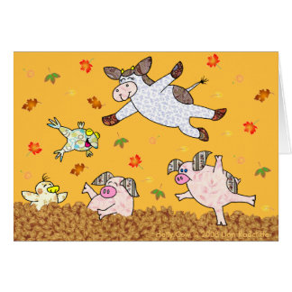 Holly Cow Leaf Jumping Time Cards