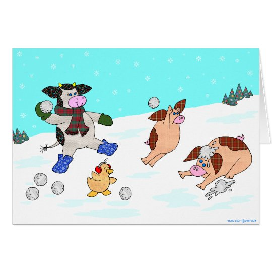Holly Cow, Let It Snow! Card