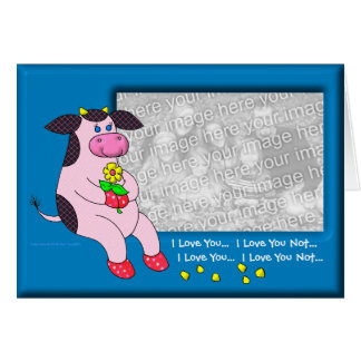 Holly Cow Love You Love You Love You Greeting Cards