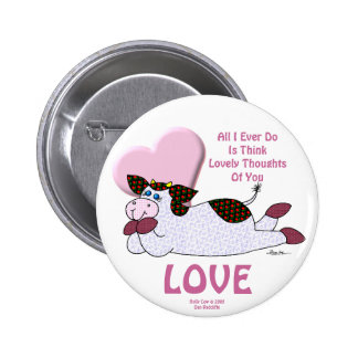 Holly Cow Lovely Thoughts Buttons
