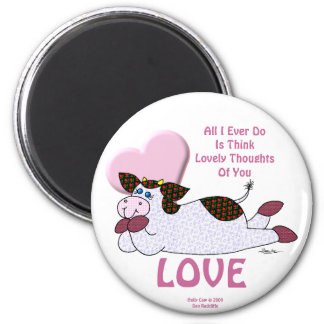 "Holly Cow ""Lovely Thoughts"" Magnet"